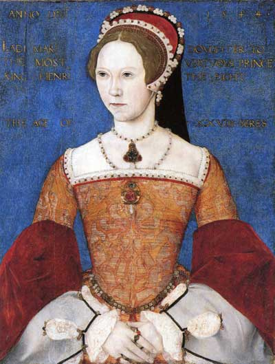 Portrait of Queen Mary in 1544, attributed to Master John