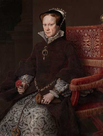 Mary Tudor, painted in 1554 by Antonis Mor.