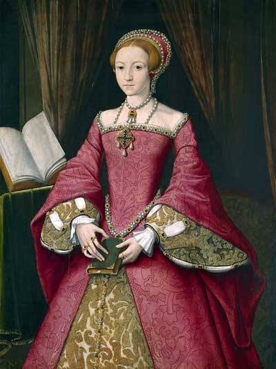 Princess Elizabeth, c1546, aged 13 or 14. Painting attributed to William Scrots (Royal Collection).